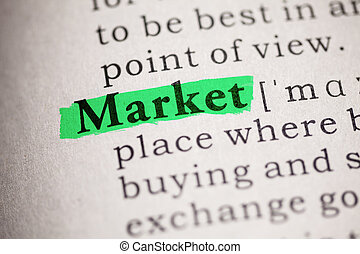 Fake Dictionary, definition of the word market.