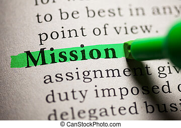 Mission - Fake Dictionary, definition of the word Mission.