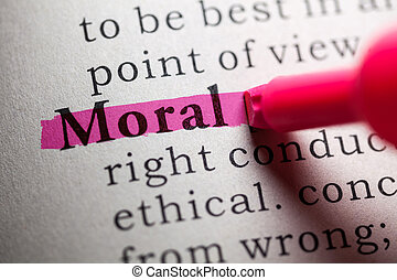 Fake Dictionary, definition of the word moral.