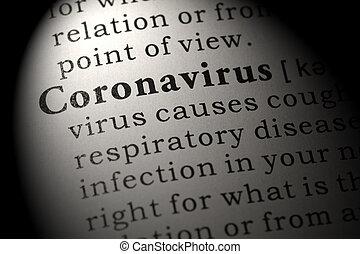 Fake Dictionary, Dictionary definition of coronavirus.