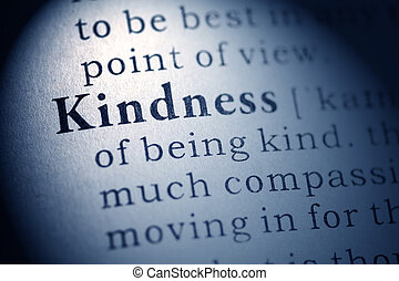Fake Dictionary, Dictionary definition of kindness.