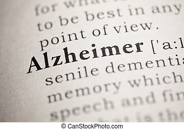 Alzheimer - Fake Dictionary, Dictionary definition of the...