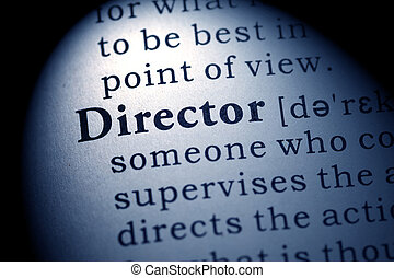 director - Fake Dictionary, Dictionary definition of the...