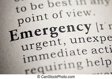 emergency - Fake Dictionary, Dictionary definition of the...