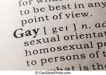 Homosexual dictionary term