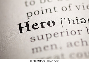 Fake Dictionary, Dictionary definition of the word Hero.