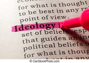 Fake Dictionary, Dictionary definition of the word ideology