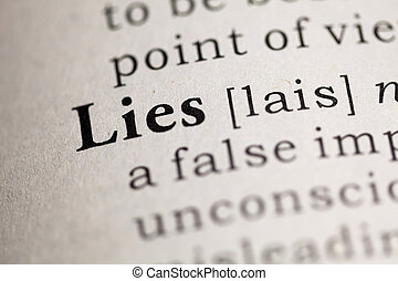 Lies - Fake Dictionary, Dictionary definition of the word...