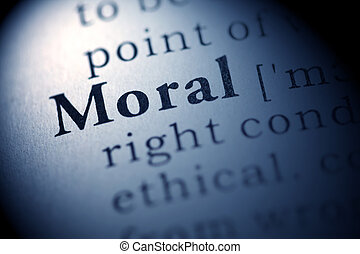 Fake Dictionary, Dictionary definition of the word Moral.