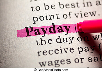 payday - Fake Dictionary, Dictionary definition of the word ...