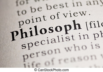 Philosoph - Fake Dictionary, Dictionary definition of the...