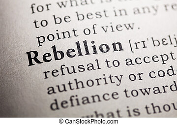 Fake Dictionary, Dictionary definition of the word rebellion.