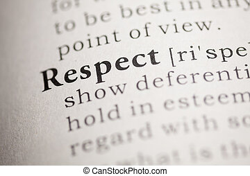 Respect - Fake Dictionary, Dictionary definition of the word...