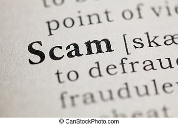 Fake Dictionary, Dictionary Definition Of The Word Scam.