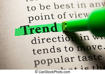 Fake Dictionary, Dictionary definition of the word trend.