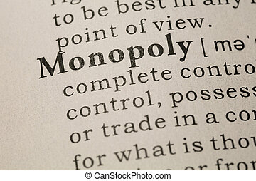 definition of word monopoly