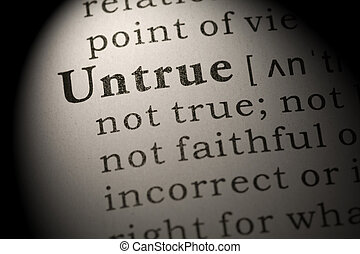 definition of word untrue - Fake Dictionary, Dictionary ...
