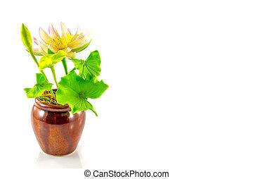 fake flower pink lotus