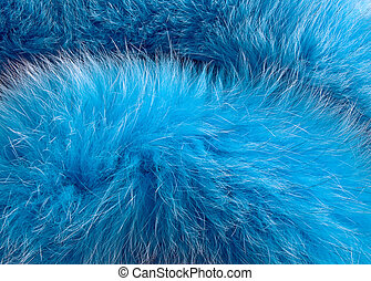 Fake fur - Blue artificial fur for texture or background