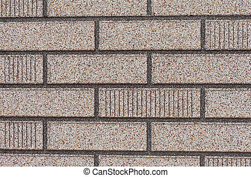Fake grey brick wall siding - Background texture pattern of...