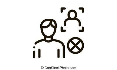 Fake Man Identity Icon Animation. black Fake Man Identity animated icon on white background