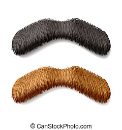 Fake mustaches - Vector illustration of fake mustaches