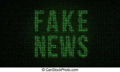 Fake News - Digital Data Code Matrix - Camera moving back...