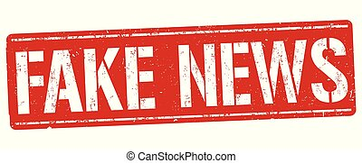 Fake news grunge rubber stamp