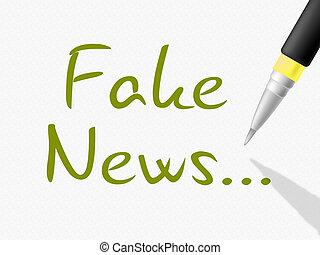 Fake News Hand Written Message 3d Illustration