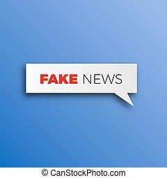 Fake news HOAX concept