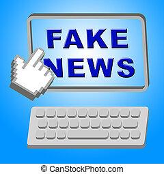 Fake News Message On Laptop Screen 3d Illustration