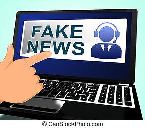 Fake News Message On Screen 3d Illustration