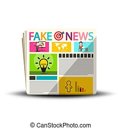 Fake News Newspapers. Newspaper Magazine Cover Design.