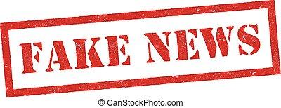 Fake news red stamp