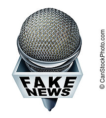 Fake News Report - Fake news report concept and hoax ...
