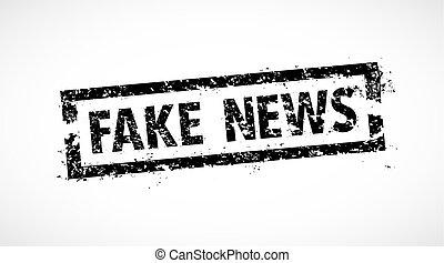 Fake news rubber stamp