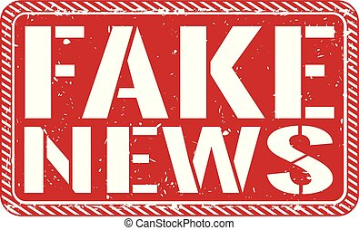 fake news rubber stamp. Grunge design with dust scratches