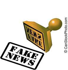 Fake News rubber stamp