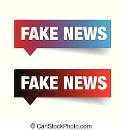 Fake News sign label tag