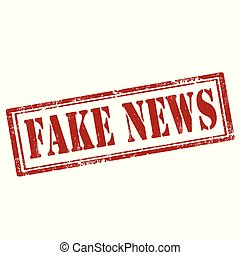 Grunge rubber stamp with text Fake News, vector illustration