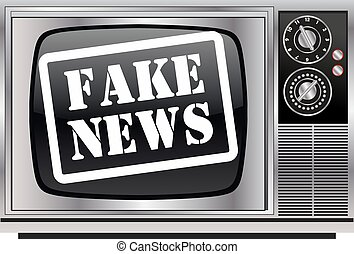 Fake News television set