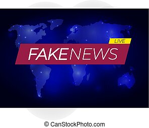 breaking and fake news logo template on transparent background