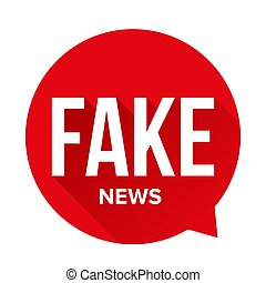 Fake News Warning sign speech bubble