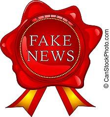 Fake news wax seal