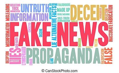 Fake News Word Cloud - Fake News word cloud on a white ...