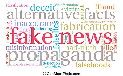 Fake News Word Cloud - Fake News word cloud on a white...