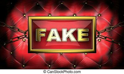 fake on velvet background