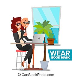 Fake Person Vector. Bad, Tired Woman. Deceive Concept....