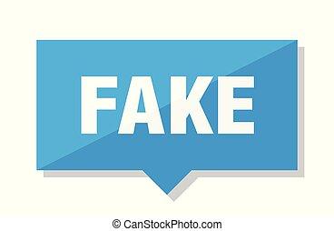 fake price tag - fake blue square price tag