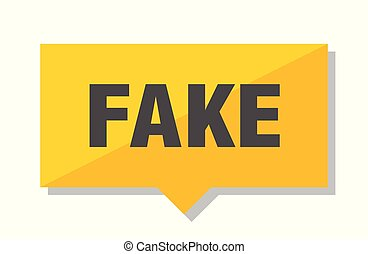 fake price tag - fake yellow square price tag